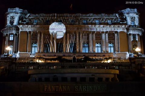 Video Mapping la Cercul Militar National @Spotlight Bucharest International Light Festival 2016