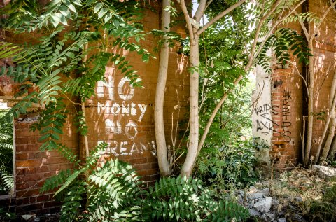 No Money No Dreams - Graffiti - Moara lui Assan